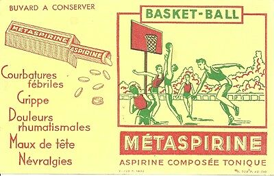 Buvard Metaspirine + Basket-Ball