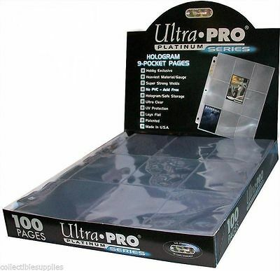 Ultra-Pro 9-Pocket Pages PLATINUM 100 x Seiten Box-OVP Hüllen Magic YGO-11 Holes