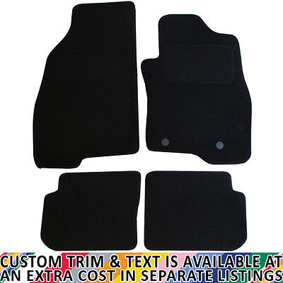 Fiat Punto Evo 2010+ Fully Tailored 4 Piece Car Mat Set with 2 Clips