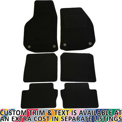 Vauxhall Zafira MK II 2006-2011 Fully Tailored 6 Piece Car Mat Set with 4 Clips