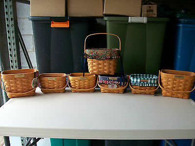 Longaberger Lot of 7 Dresden Baskets Combos