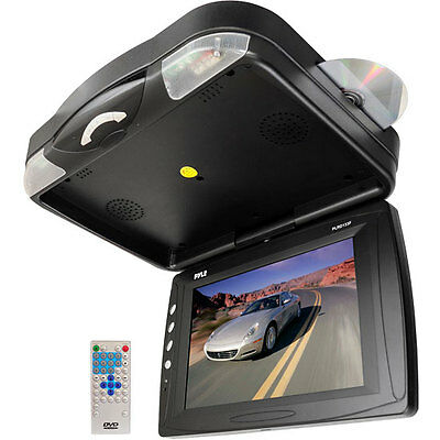 New Pyle PLRD133F 12.1'' Roof Mount TFT LCD Monitor w/ Built-In DVD Player