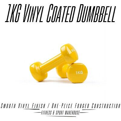 Pair of Vinyl Coated Dumbbell Fitness from 1Kg - 10Kg Home Gym Hand Strengtheing