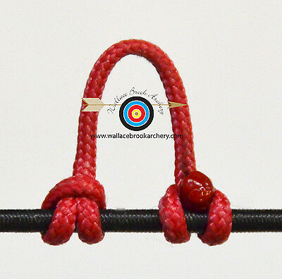 2 Pack Black Cherry Archery Release Bow String Nock D Loop Bowstring BCY #24