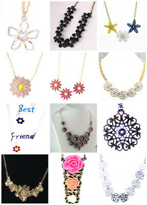 Pretty daisy flowers chain necklace 50s 60s 70s retro multiple choices