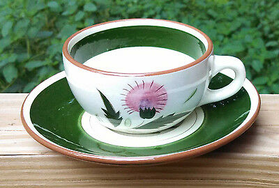 Stangl Thistle Pattern Cup & Saucer