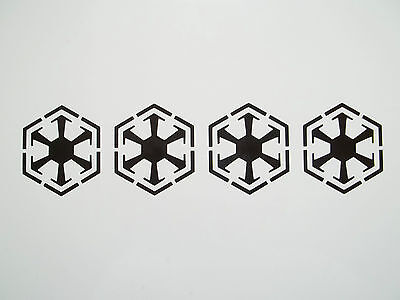 4 x Sith Empire Decals - Vinyl Stickers 5.4cm x 6.2cm car window star