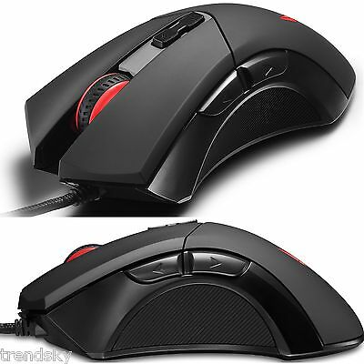 DeLUX M555 Maus Gaming 7 Tasten 2400 DPI Computer Optical Spieler PC USB Mouse