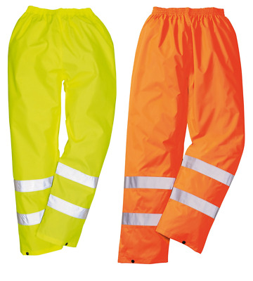 Portwest H441 Hi Vis Rain Trousers Lightweight Waterproof PVC Coated EN343