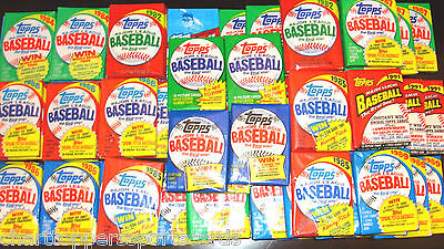 Huge Lot of 75 Unopened Old Vintage Topps Baseball Cards in (5) Wax Rack Packs