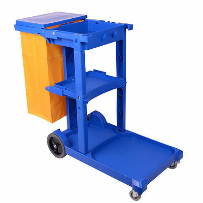 Housekeeping / Janitorial Cleaning Trolley BLUE