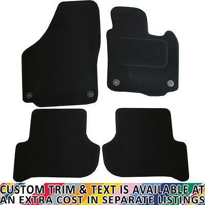 Skoda Yeti 2009+ Fully Tailored 4 Piece Black Car Mat Set with 4 Clips