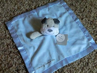 NWT Carters blue gray plush Mommy Loves Me puppy dog bulldog Security Blanket
