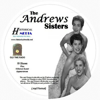 THE ANDREWS SISTERS - 25 Shows - Old Time Radio In MP3 Format OTR On 1 CD