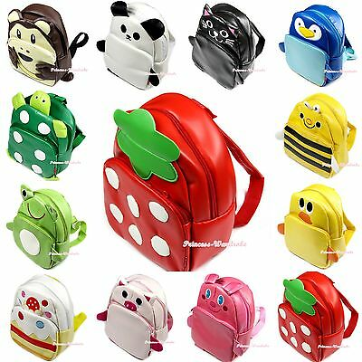 Various Panda Cat Frog Turtle Pig Rabbit Penguin Bee Kids Backpack School Bag