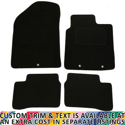 Kia Picanto MK2 2011 - 2016 Fully Tailored 4 Piece Car Mat Set with 3 Ring Clips