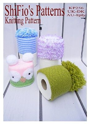 Val Young KNITTING PATTERN no 1944b FOR A TOILET ROLL COVER