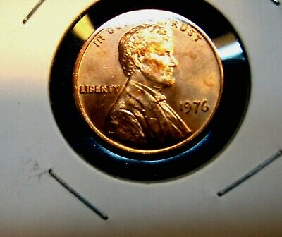 1976 - P  Lincoln  Memorial  Cent  BU   Red  Nice  US  Coin   Combined Shipping