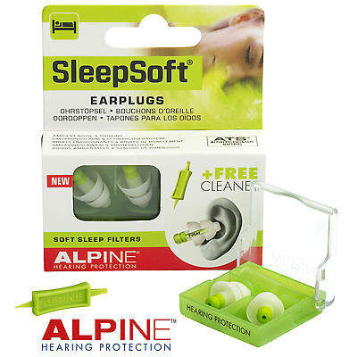 ALPINE SLEEPSOFT New Design Earplugs Sleeping & Snoring NRR25dB - FREE UK P&P