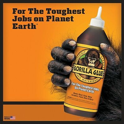 Gorilla Glue Super Strong - Water Resistance Metal Stone Wood, Ceramics Foam