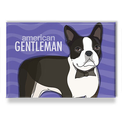 Boston Terrier Magnet - American Gentleman - Dog Magnets Boston Terrier Gifts