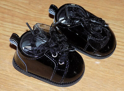 NIP-adorable black patent sneaker for American Girl, Bitty Baby doll