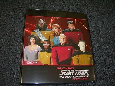Complete Star Trek The Next Generation Series 2 Album / Binder with Promo P3 TNG
