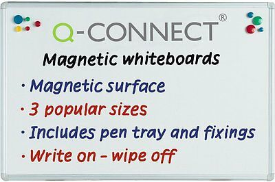 Q-Connect Magnetic Dry Wipe Board 1800x1200mm 9700033
