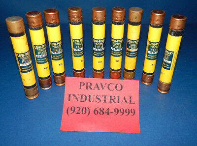 Lot of 9 Bussmann LPS-RK-20SP Low-Peak Fuses Time Delay 20Amp LPSRK20SP