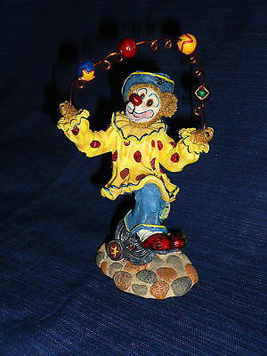Boyds Bearstones JUGGLING BEAR CLOWN Figurine 2001 Gizmoe