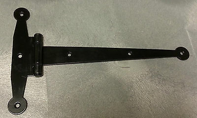"12"" STRAP HINGE Heavy Duty Steel for Gate, Barn, Shed, Storage Doors, Black"