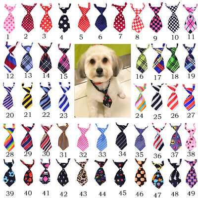 Wholesale Mix Color Polyester Silk Pet Dog Necktie Adjustable Bow Tie Grooming