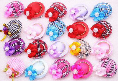 New Cute Caps Design Dog Hair Bows Pet Dog Grooming Hair Clips Accessories