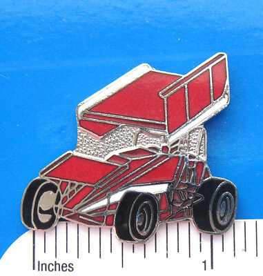 WINGED  SPRINT  CAR - hat pin , tie tac , lapel pin , hatpin GIFT BOXED