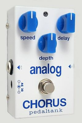 Handwired Boutique PedalTank Analog Chorus Guitar Effects Pedal