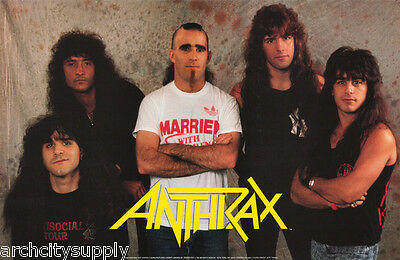 Poster : Music : Anthrax - All 5 Posed   - Free Shipping !  #anp001   Lw3 Q