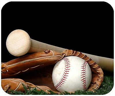 Mouse Pad Custom Personalized Thick Mousepad-Baseball 1 - Add Any Text Free