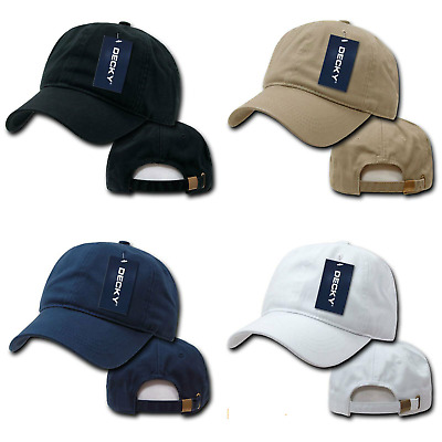 DECKY WASHED COTTON Polo Style Flex Fitted Baseball Hats Caps Unisex ... e12c4ad77fd3