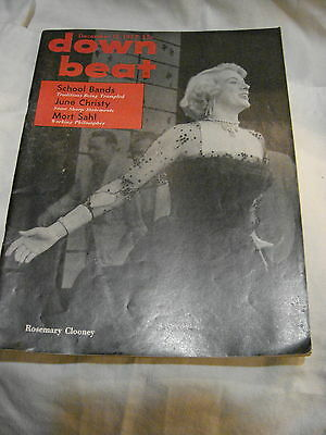 Down  Beat Dec. 12 1957 Cover  Rosemary Clooney