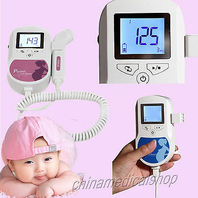 HOT Pocket Fetal Doppler hand-held obstetrical unit LCD Display with 3MHZ probe