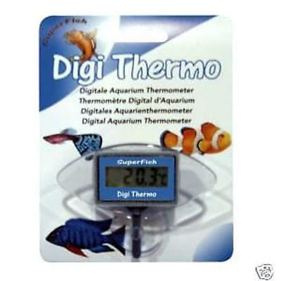 Superfish Digi Thermo Submersible Aquarium Fish Tank Digital Thermometer LCD
