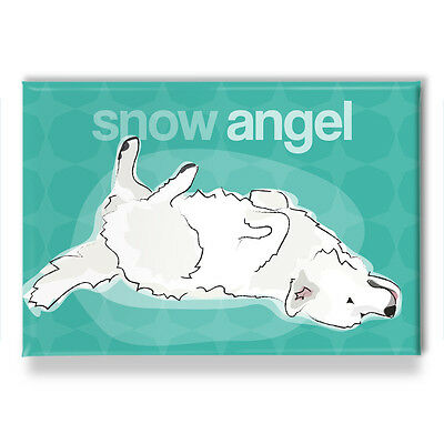 Great Pyrenees Gifts Refrigerator Magnets from Pop Doggie - Snow Angel