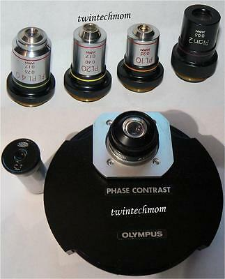 Olympus Aplanat Achromat Phase Contrast Kit- 4 Objectives 1.4 NA Condenser CT