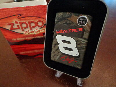 Dale Earnhardt Jr #8 On Realtree Camo Nascar Zippo Lighter Mint In Box