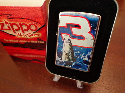 Dale Earnhardt #3 Large Mouth Bass Jumping Zippo Lighter Mint In Box