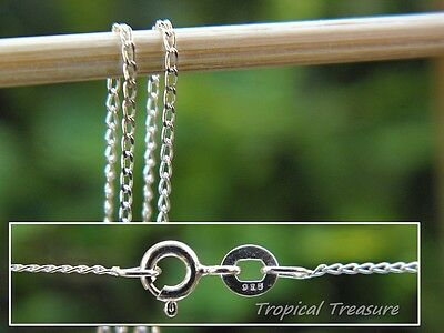 1.0mm Superfine LONG CURB Chain - 925 SOLID Sterling Silver