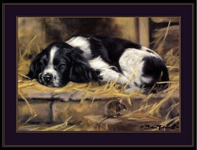 Picture Print Cocker Spaniel Puppy Dog Mouse Dogs Puppies Vintage Poster Art