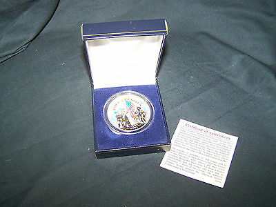 2001 American Heroes Silver Dollar-colorized- w/COA- comm. Heroes of Sept 11th