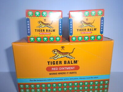 Pack of 2  Original 21ml / 18gm - Red Tiger Balm -SPECIAL PRICE UK SELLER