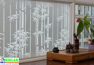 "CHOIS GW014 Adhesive Cling Privacy Frosted Bamboo Glass Window Films 35"" x 72"""